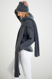 Mer Sea & Co Chalet Ribbed Scarf - Front full body