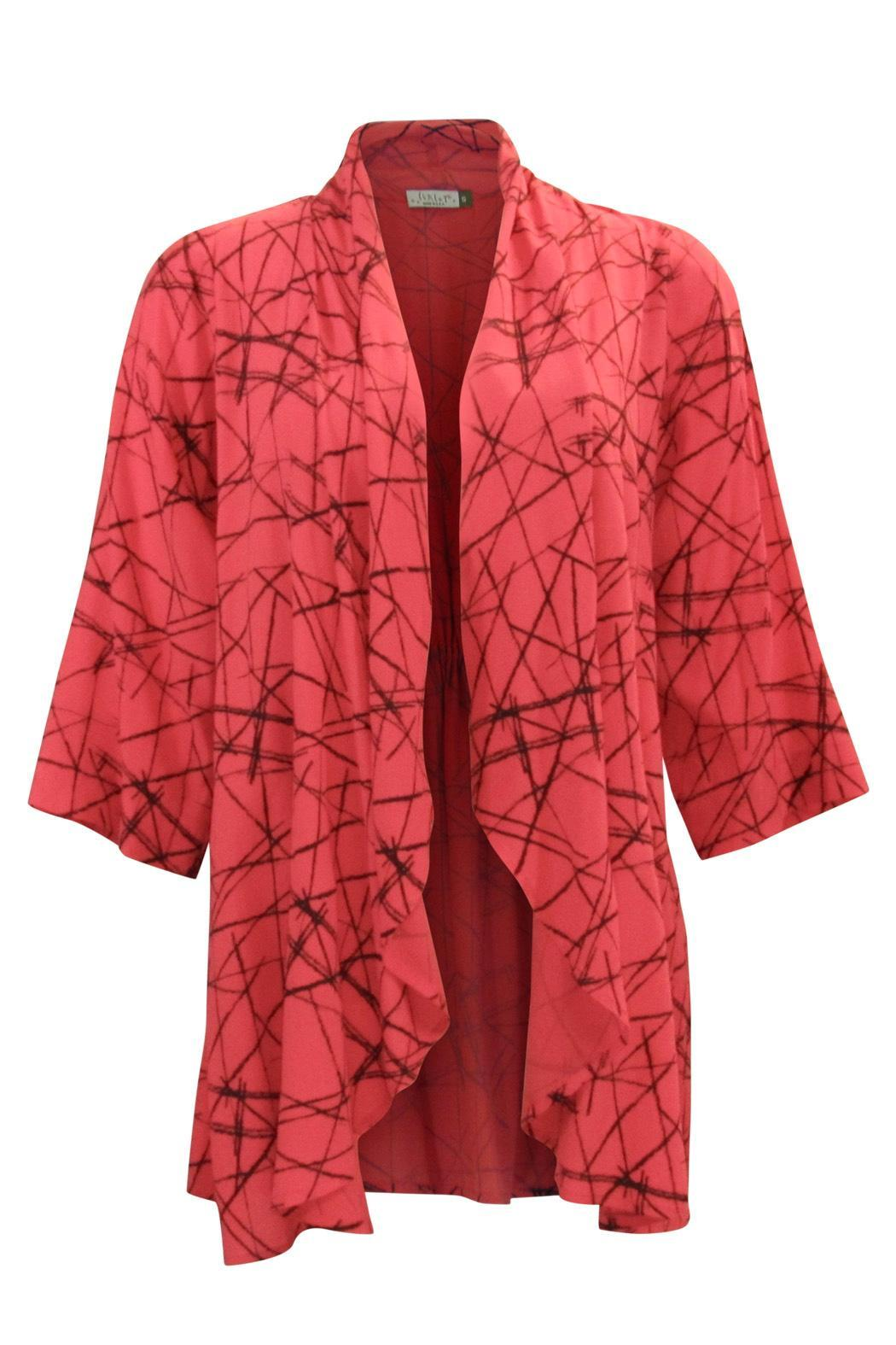 Chalet et ceci Rayon Coral Cardigan - Main Image