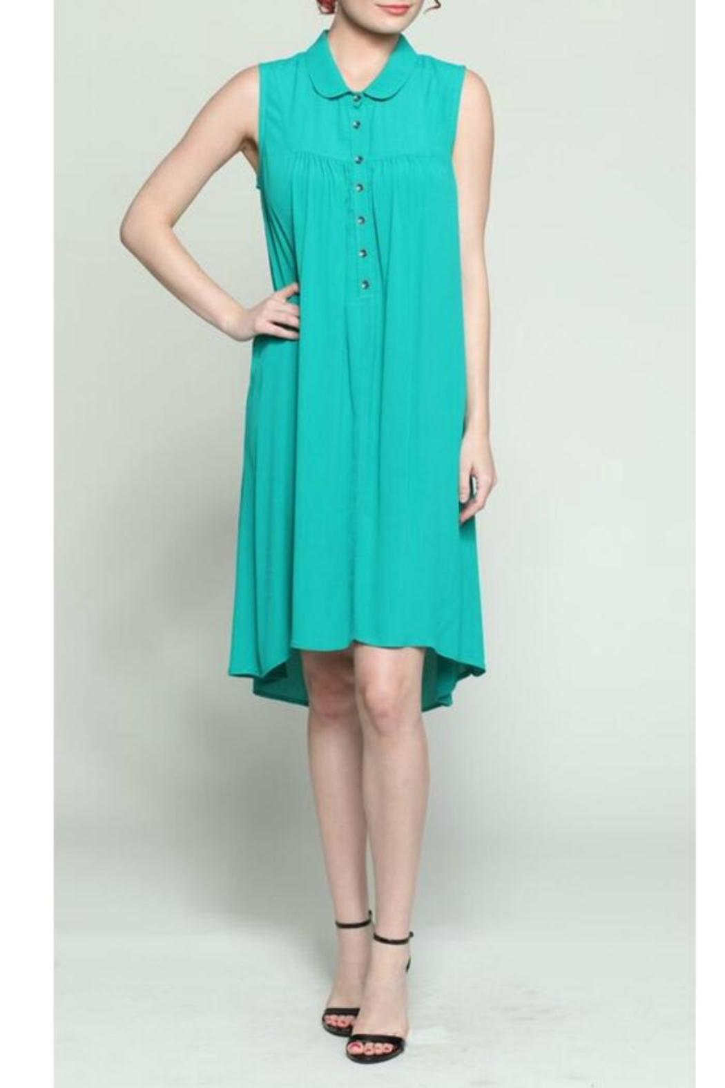 Chalet et ceci Teal Raelene Dress - Front Cropped Image