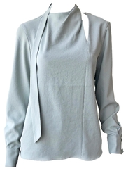 Tibi Chalky Pleat Top - Product Mini Image