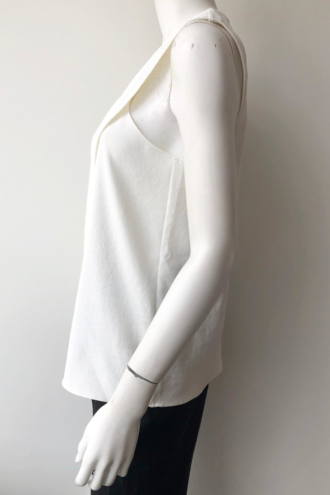 Tibi Chalky Wrap Top - Side Cropped Image