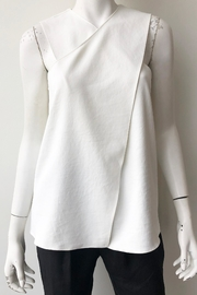 Tibi Chalky Wrap Top - Front full body