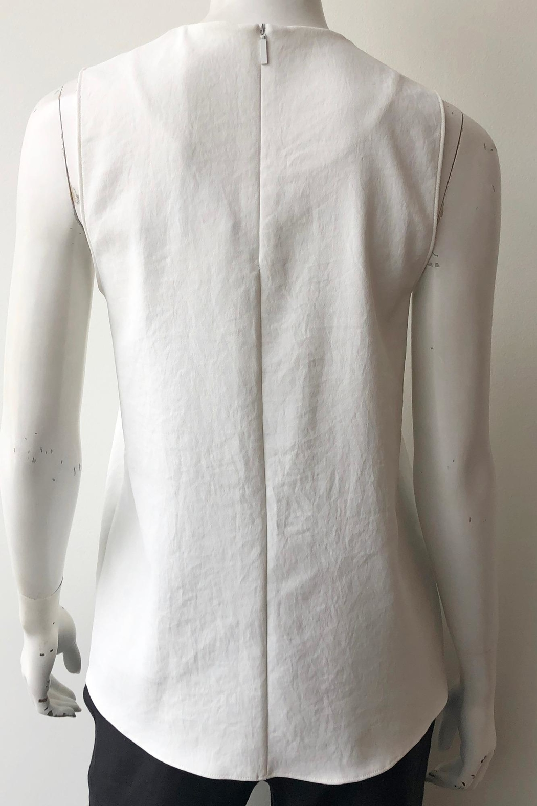 Tibi Chalky Wrap Top - Back Cropped Image