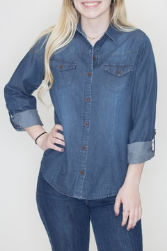 C'Est Toi Chambray Button Down - Product List Image