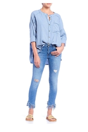 Free People Chambray Button-Up Shirt - Product Mini Image