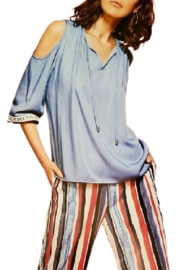 Zoe Chambray Cold Shoulder - Product Mini Image