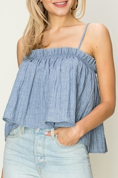 fashion on earth Chambray Crop Cami - Product List Image