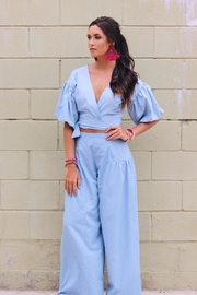 Lucy Love Chambray Crop Set - Front cropped
