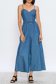 60s – 70s Pants, Jeans, Hippie, Bell Bottoms, Jumpsuits Chambray Cropped Jumpsuit $48.00 AT vintagedancer.com