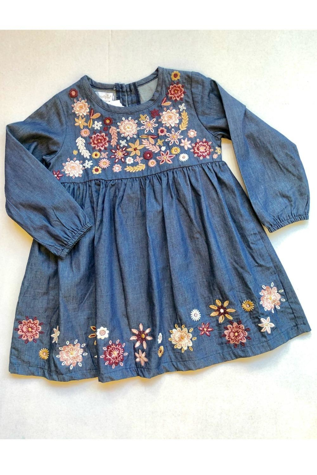 Mud Pie Chambray Embroidery Dress - Main Image