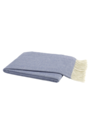 The Birds Nest CHAMBRAY ITALIAN HERRINGBONE THROW - Product Mini Image