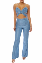 luxxel Chambray Jumpsuit - Product Mini Image