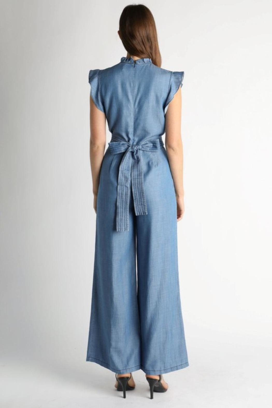 Current Air Chambray Jumpsuit - Front Full Image