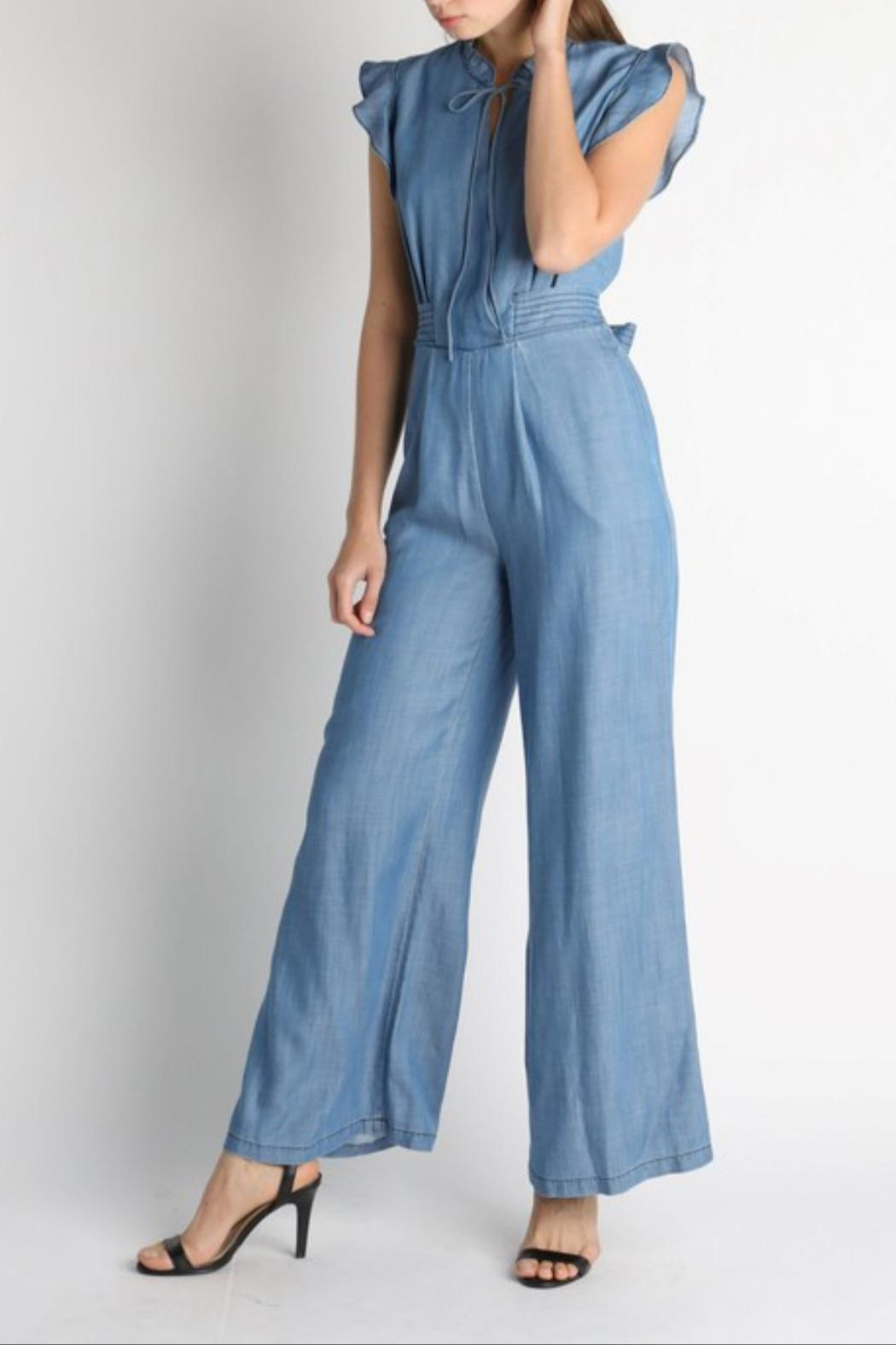 Current Air Chambray Jumpsuit - Back Cropped Image