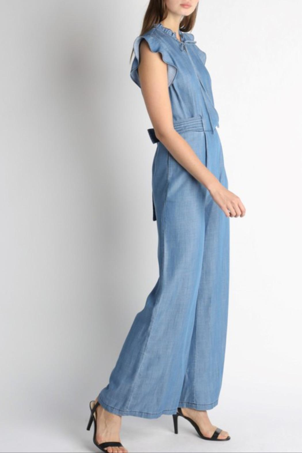 Current Air Chambray Jumpsuit - Side Cropped Image