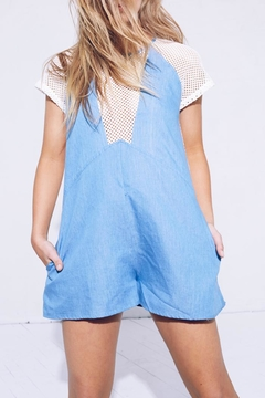 MinkPink Chambray Mesh Playsuit - Alternate List Image