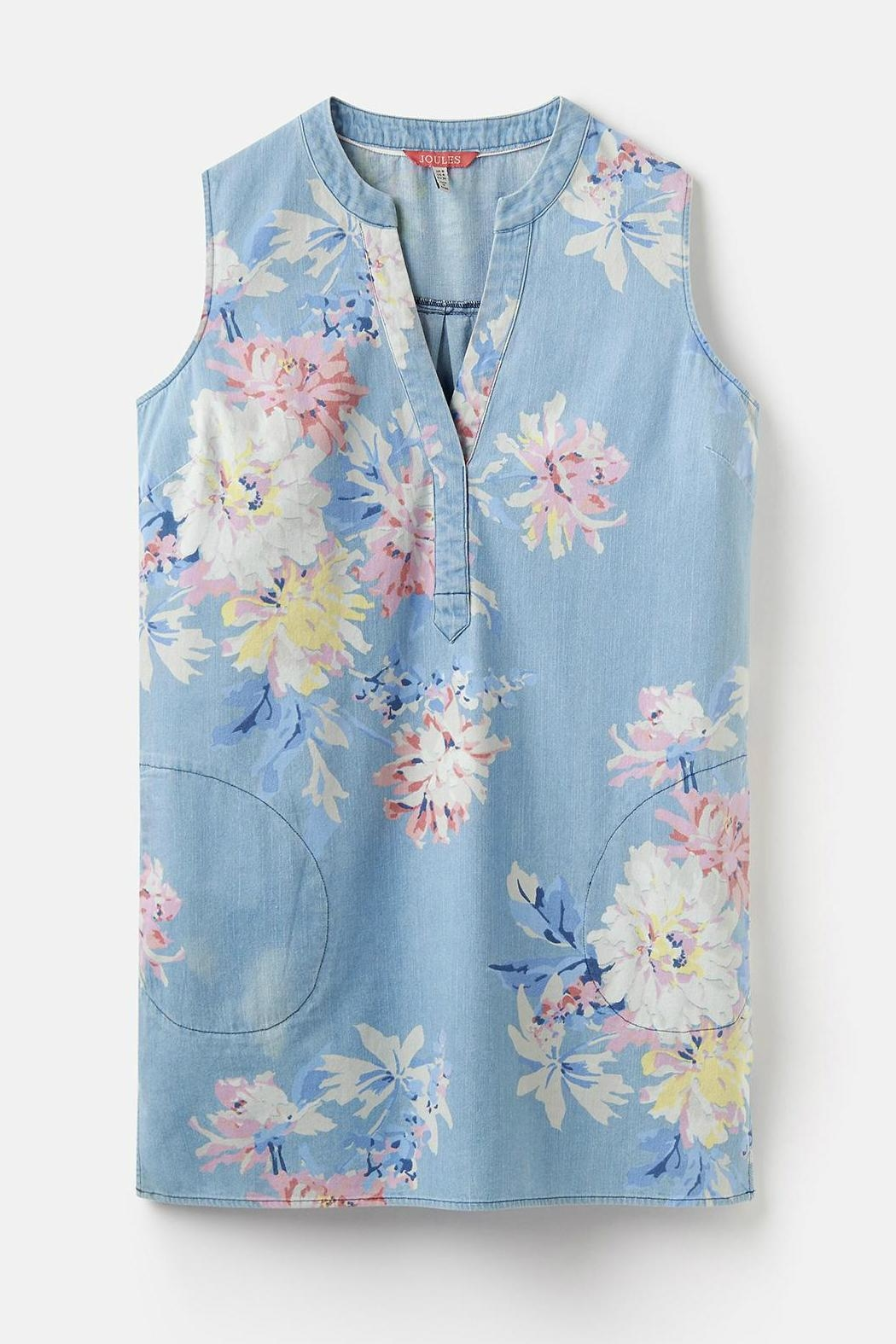 Joules Chambray Pocket Tunic - Side Cropped Image