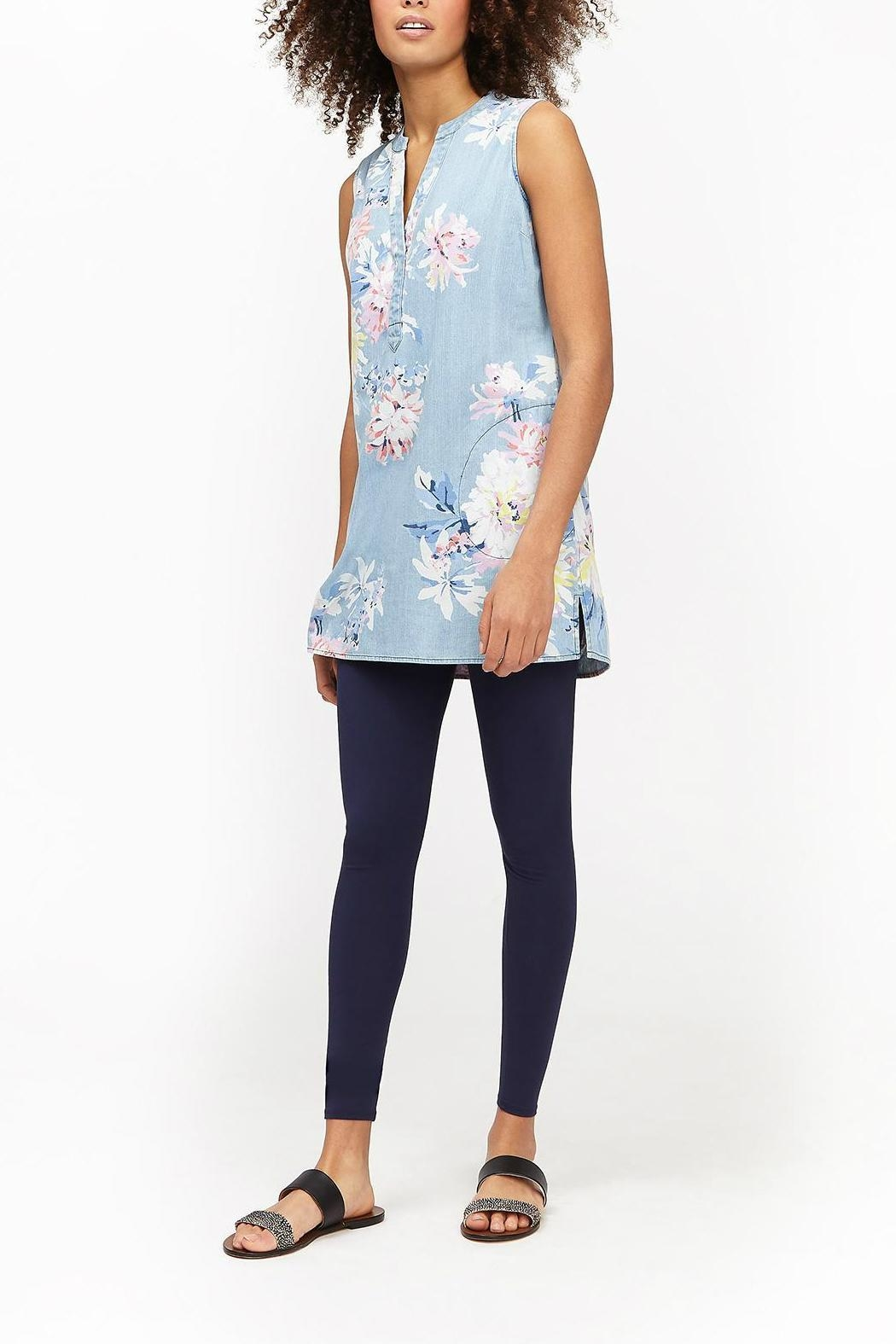 Joules Chambray Pocket Tunic - Front Cropped Image