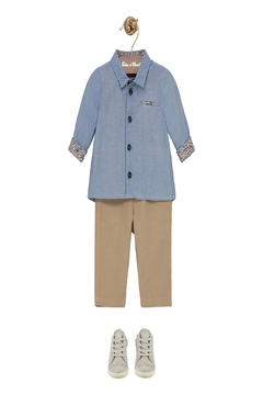 Tartine et Chocolat Chambray Print Shirt - Alternate List Image