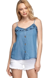 1250 c Chambray Ruffle Cami - Product Mini Image