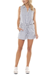 Dex Chambray Stripe Romper - Product Mini Image