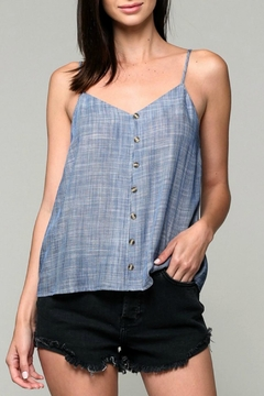 Miss Darlin Chambray Striped Tank - Product List Image