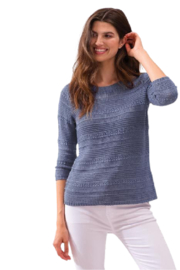 Alison Sheri Chambray Sweater - Front cropped