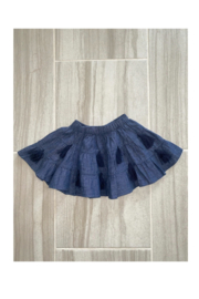 MudPie Chambray Tassel Skirt - Front cropped