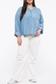 perch Chambray Top Curvy - Product Mini Image
