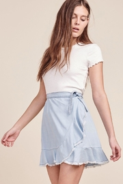 BB Dakota Chambray Wrap Skirt - Product Mini Image