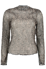 Bishop + Young Chameleon Funnel Neck Top - Front cropped