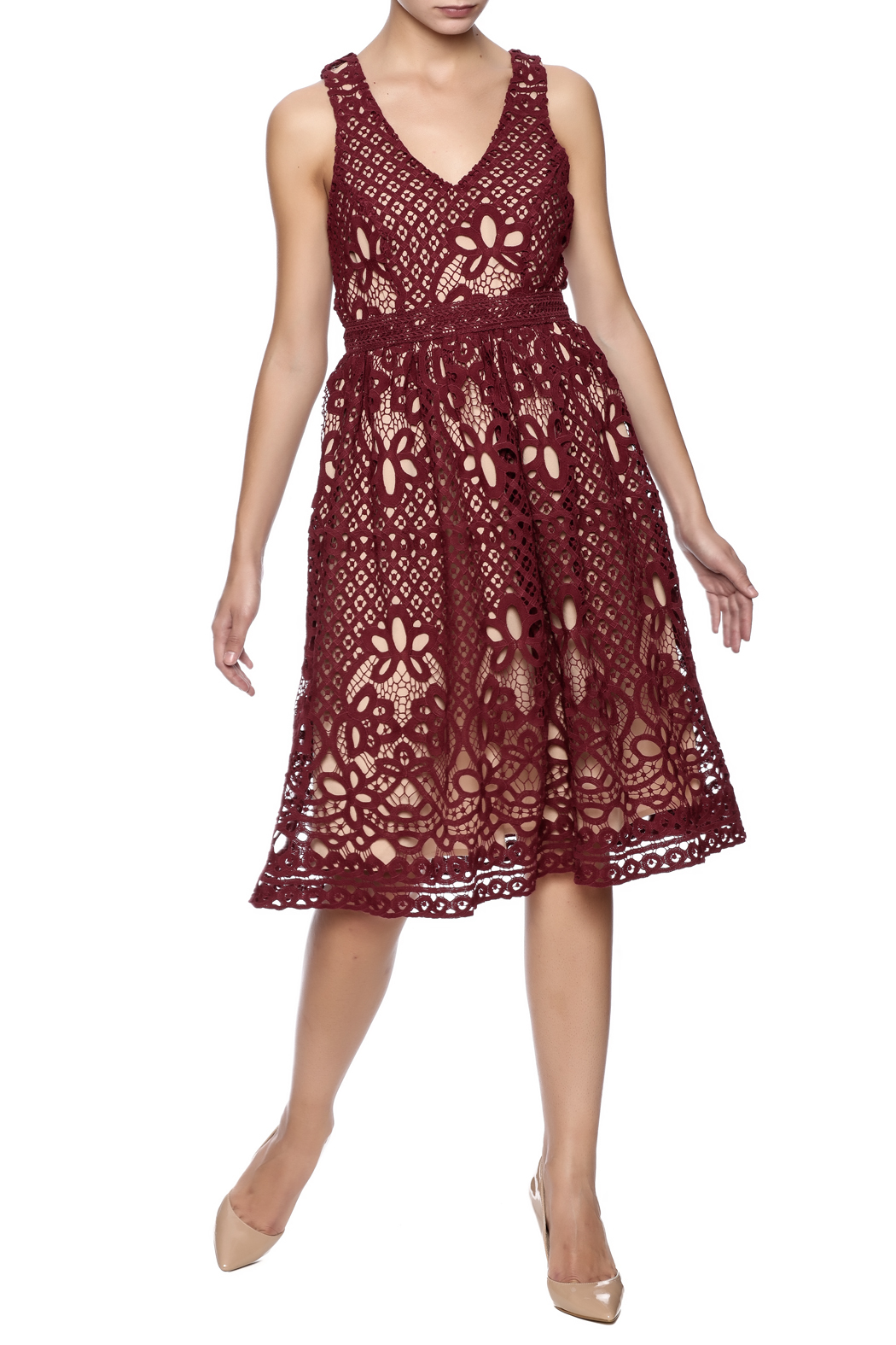 Champagne Amp Strawberry Burgundy Lace Dress From Pittsburgh