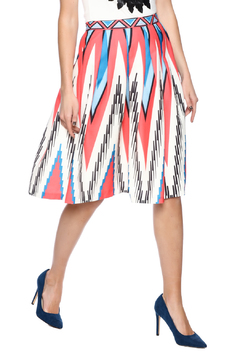 Shoptiques Product: Printed Pleated Skirt