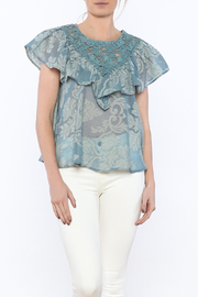 Champagne & Strawberry Serenity Blouse - Front cropped