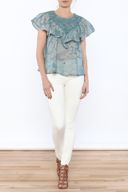 Champagne & Strawberry Serenity Blouse - Front full body