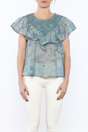 Champagne & Strawberry Serenity Blouse - Side cropped