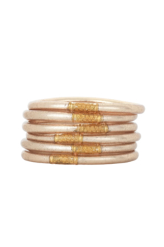 The Birds Nest CHAMPAGNE ALL WEATHER SERENITY BRACELETS-LARGE - Product List Image
