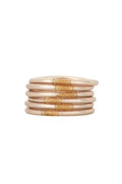 BuDhaGirl CHAMPAGNE ALL WEATHER SERENITY BRACELETS-SMALL - Product List Image