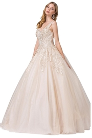DANCING QUEEN Champagne Beaded Bridal Ball Gown - Product Mini Image