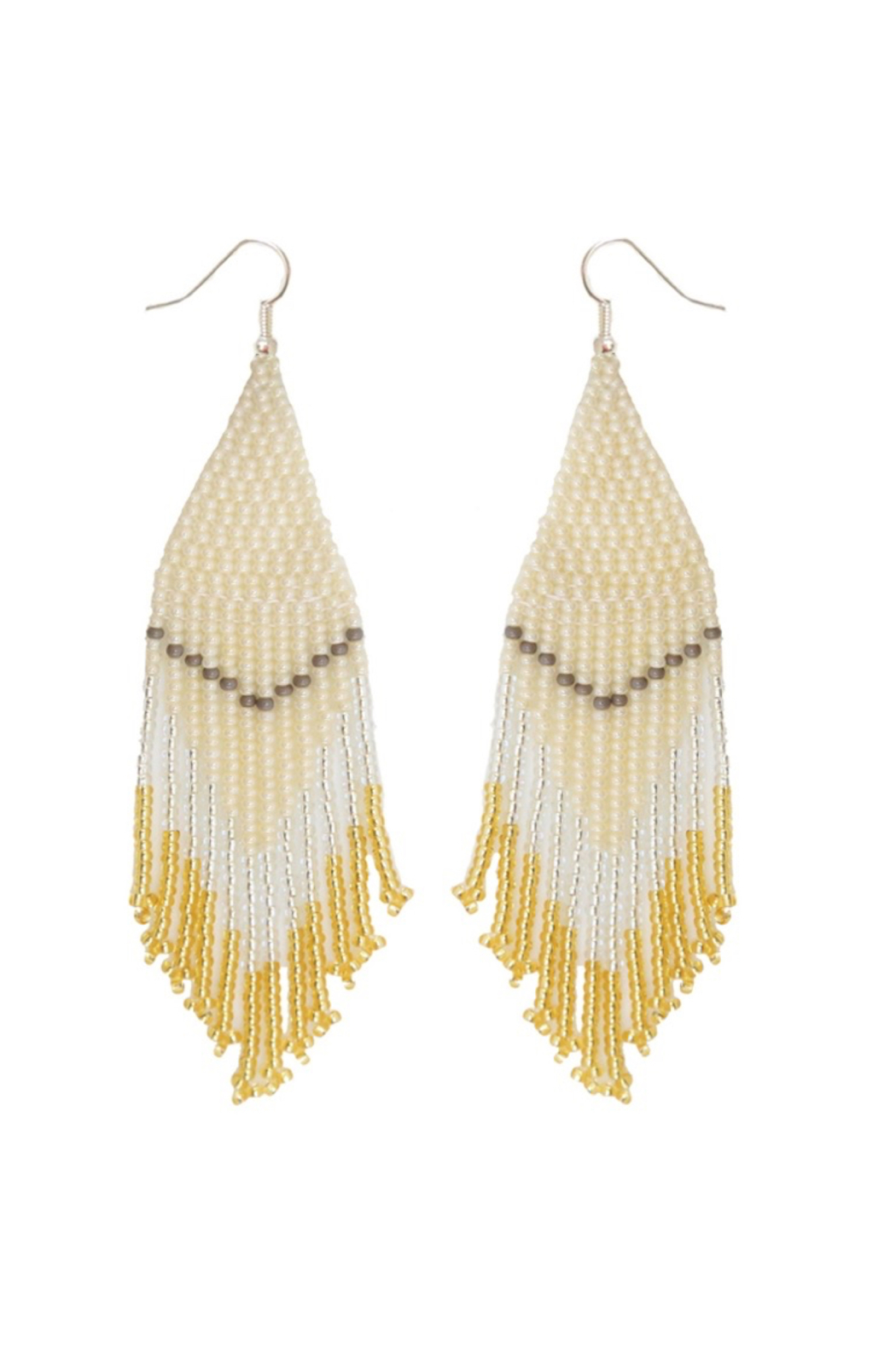 Fosterie  Champagne Beaded Earrings - Main Image