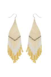 Fosterie  Champagne Beaded Earrings - Product Mini Image