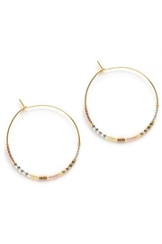 Amano Trading Champagne Beaded Hoops - Product Mini Image