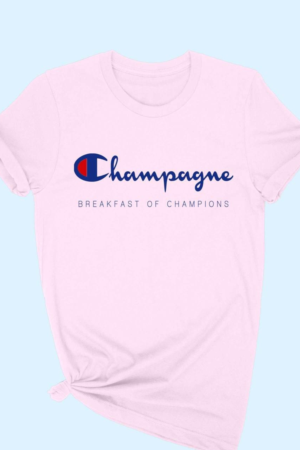 ALPHIA Champagne Breakfast Tee - Front Cropped Image