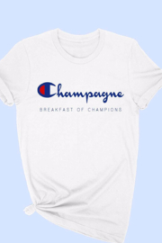 ALPHIA Champagne Breakfast Tee - Front cropped