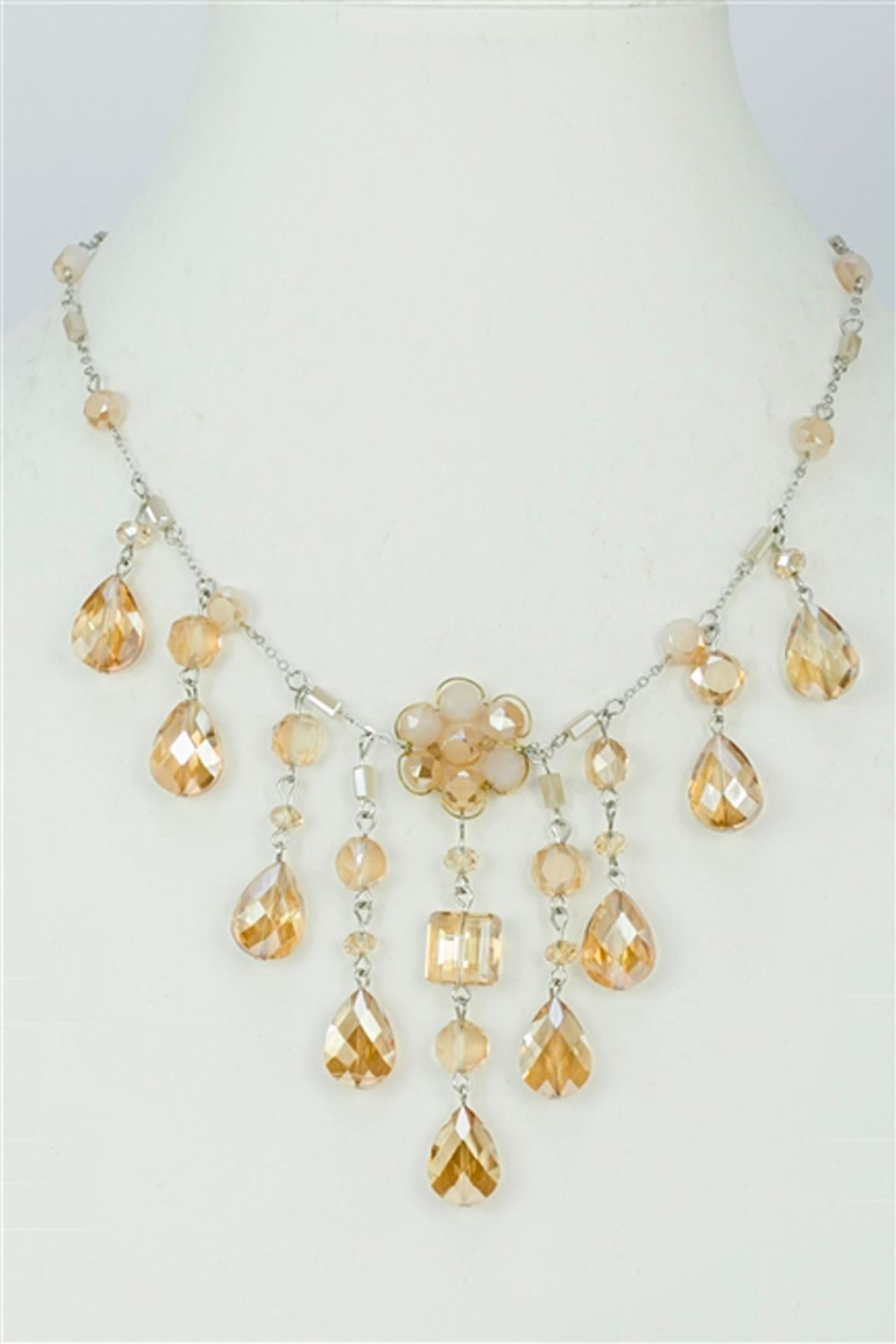 Sweet Romance Champagne Crystal Necklace - Main Image