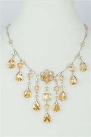 Sweet Romance Champagne Crystal Necklace - Product Mini Image