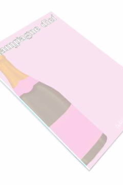 Packed Party Champagne Diet Notepad - Alternate List Image