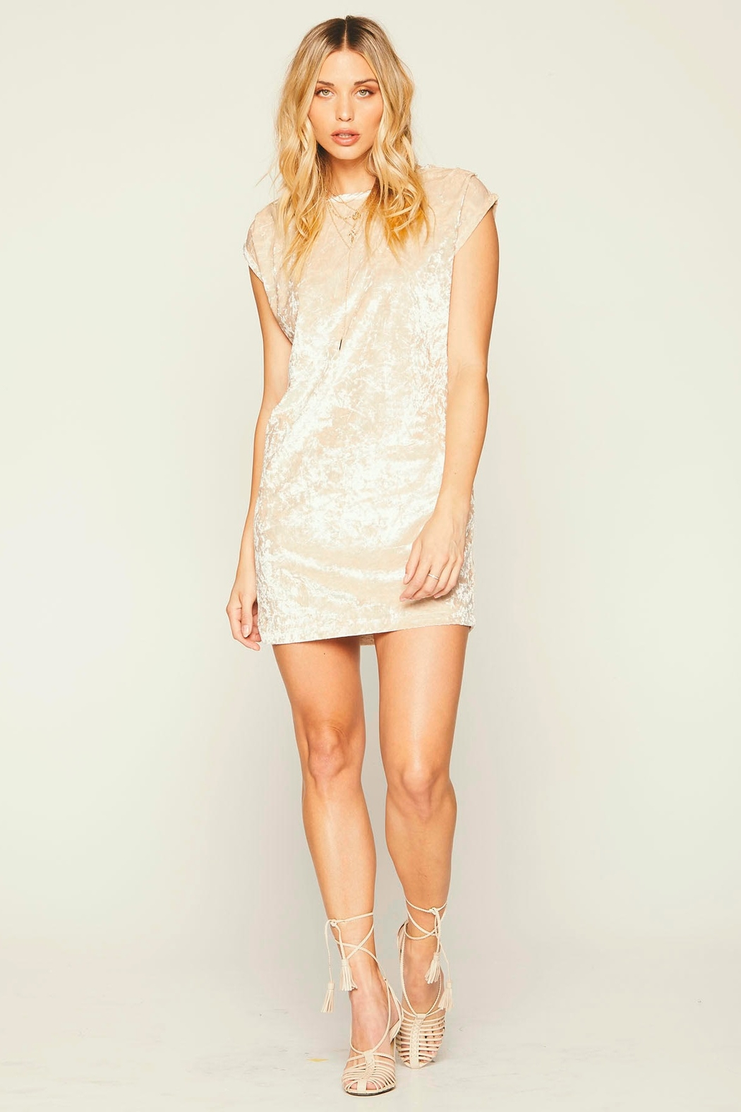 Knot Sisters Champagne Disco Dress - Main Image