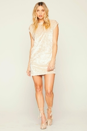 Knot Sisters Champagne Disco Dress - Front cropped