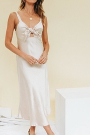 Chikas Champagne Gold Dress - Front cropped